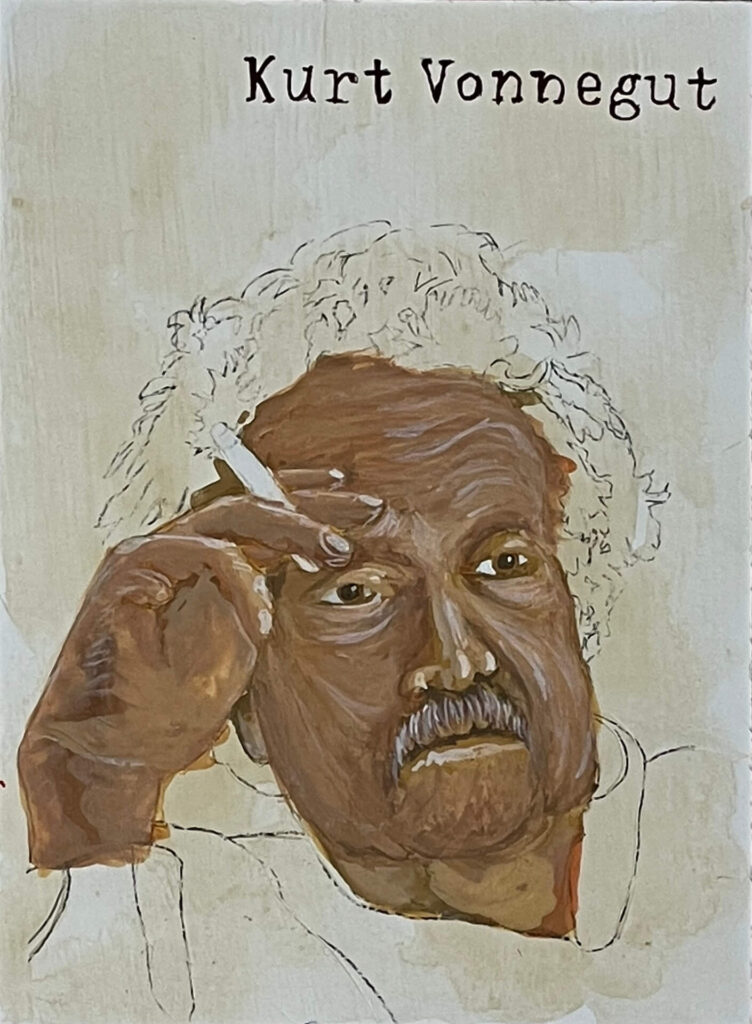 The Kurt Vonnegut painting